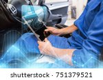 car service  repair  technology ... | Shutterstock . vector #751379521