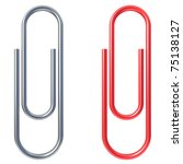 paper clip isolated over white...   Shutterstock . vector #75138127