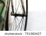 close up of  bicycle wheel ... | Shutterstock . vector #751383427