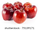 Seven Juicy  Big  Red Apples ...