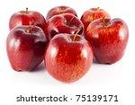 Seven Juicy  Big  Red Apples ...