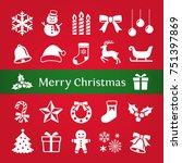 christmas icon | Shutterstock .eps vector #751397869