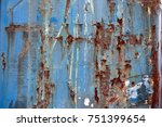 rusty metal surface and... | Shutterstock . vector #751399654
