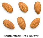 almonds isolated on white... | Shutterstock . vector #751400599