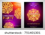 holiday christmas club poster.... | Shutterstock .eps vector #751401301