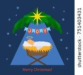 the baby jesus was born....   Shutterstock .eps vector #751403431