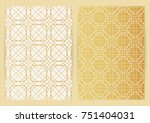 covers with abstract golden... | Shutterstock .eps vector #751404031