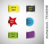vector sales elements   Shutterstock .eps vector #75140548