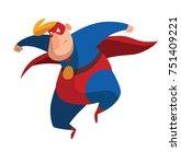 vector cartoon image of a funny ... | Shutterstock .eps vector #751409221