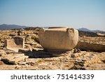a massive stone vase in ancient ... | Shutterstock . vector #751414339