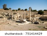 a series of columns in amathus... | Shutterstock . vector #751414429