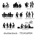 social workers stick figure... | Shutterstock .eps vector #751416904