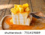 Thai Mango Crepe Cake With...