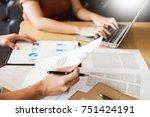 team work process. young... | Shutterstock . vector #751424191