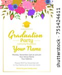 graduation party template... | Shutterstock .eps vector #751424611
