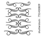 decorative monograms and... | Shutterstock .eps vector #751430809
