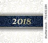 holiday card  elegant design ... | Shutterstock .eps vector #751431184