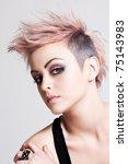 head and shoulders portrait of... | Shutterstock . vector #75143983