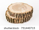 cut tree on white background.... | Shutterstock . vector #751440715