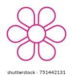 flower vector icon | Shutterstock .eps vector #751442131
