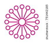 flower vector icon | Shutterstock .eps vector #751442185