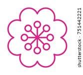 flower vector icon | Shutterstock .eps vector #751442221