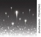 firework lights effect with... | Shutterstock .eps vector #751442461