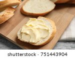 Slice Of Bread With Butter On...