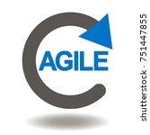 agile life cycle icon vector.... | Shutterstock .eps vector #751447855
