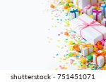 bright gifts for a party ... | Shutterstock . vector #751451071
