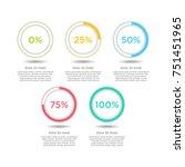 isometric 3d vector charts. pie ... | Shutterstock .eps vector #751451965
