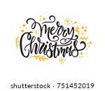 vector illustration. merry... | Shutterstock .eps vector #751452019