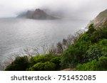 Fog Over Hout Bay Shoreline Of...