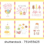 collection of hand drawn... | Shutterstock .eps vector #751455625