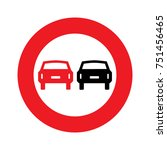 road sign. prohibitory sign. no ... | Shutterstock .eps vector #751456465