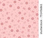 flowers  butterflies  crowns... | Shutterstock .eps vector #751456861