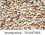 roasted coffee beans. top view. ...   Shutterstock . vector #751457305
