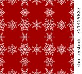 winter seamless pattern with... | Shutterstock .eps vector #751459837