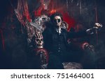 halloween. frightening gloomy... | Shutterstock . vector #751464001
