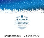 classic christmas vector... | Shutterstock .eps vector #751464979
