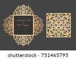 four fold laser cut template.... | Shutterstock .eps vector #751465795
