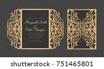 laser cut gate fold envelope.... | Shutterstock .eps vector #751465801