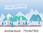 hi speed train with  banner... | Shutterstock .eps vector #751467301