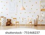 teddy bear between paper bags... | Shutterstock . vector #751468237