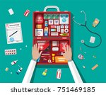 workflow of physicians. first... | Shutterstock . vector #751469185