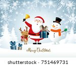 merry christmas  happy... | Shutterstock .eps vector #751469731