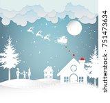 vector illustration of winter...   Shutterstock .eps vector #751473634