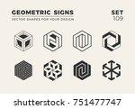 set of eight minimalistic... | Shutterstock .eps vector #751477747