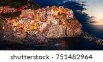 cinque terre manarola | Shutterstock . vector #751482964