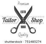 tailor shop salon vector icon... | Shutterstock .eps vector #751485274